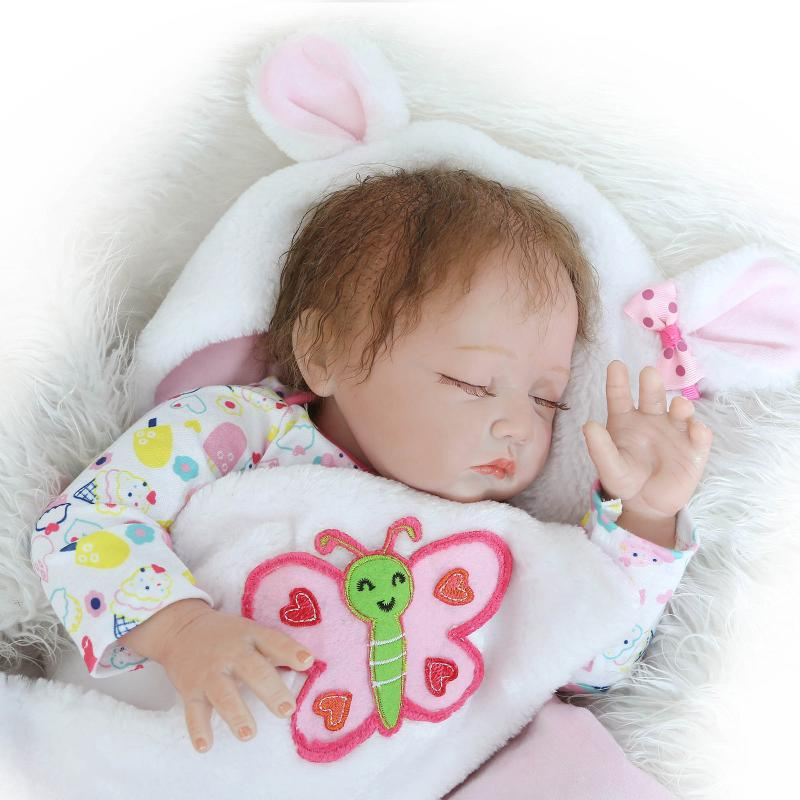 npk real sleeping baby reborn dolls 16 40cm soft silicone reborn babies for children gift bebe brinquedos reborn bonecas Silicone Reborn Baby Dolls Sleeping Babies Lifelike Real Vinyl Belly 55cm Reborn Dolls For Girls Bebe Alive Brinquedos Bonecas