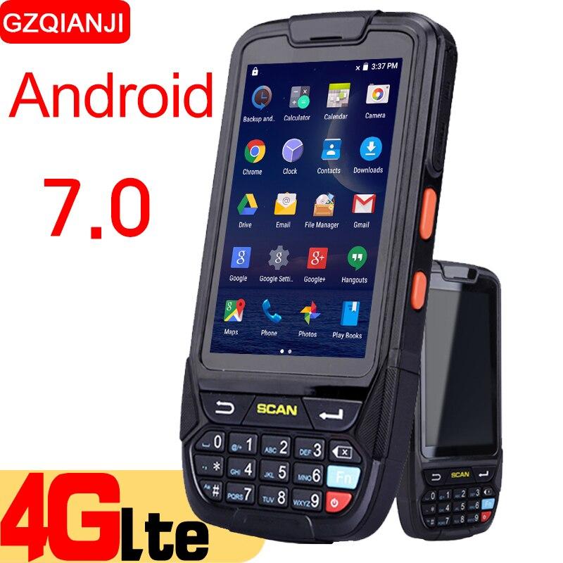 Android 7.0 PDA Palmare di raccolta dati pda terminale wifi 1D bluetooth lettore di codici a barre scanner 2D gestione delle scorte di magazzino