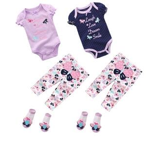 Image 5 - スーパーソフト綿 100% の夏の少年少女半袖 o ネック 6 12 m 赤ちゃんジャンプスーツの女の子 ropa ベベベビー服