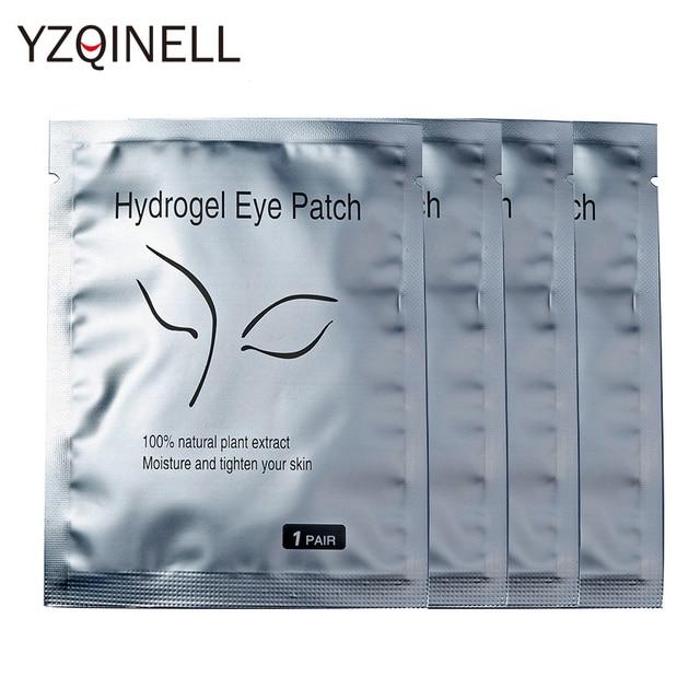 50/100pairs/Lot Eyelash Patches Eyelash Extension Lint Free Under Eye Gel Paper Patch for Eyelash Building Under Eye Lash Pads