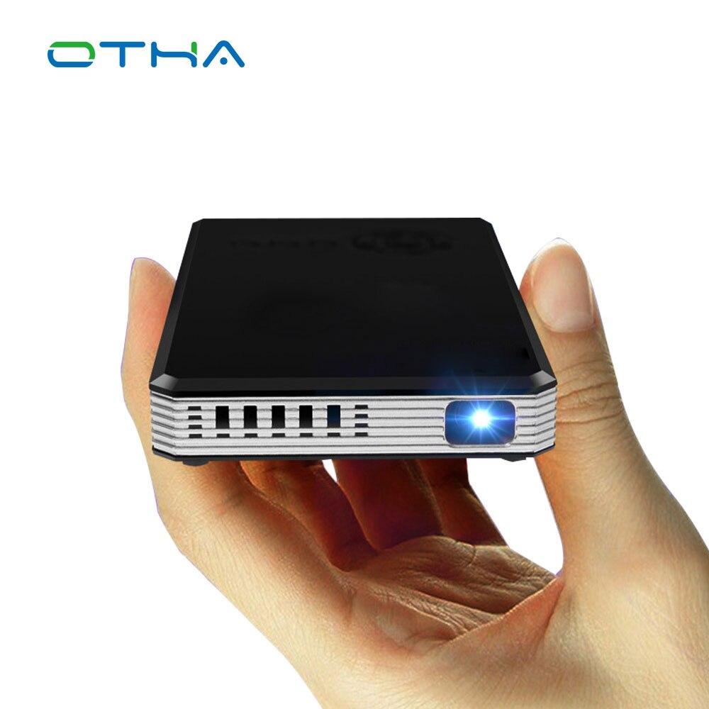 100 Lúmenes Mini Proyector DLP Portátil Inteligente Proyector WiFi Android OS Ll
