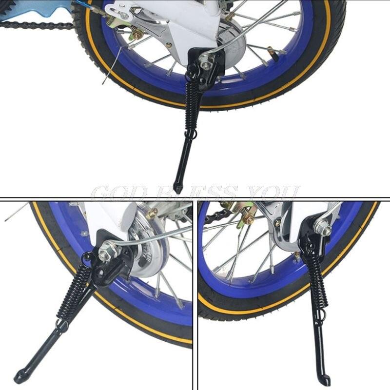 Crianças do Lado da Bicicleta Suporte de Estacionamento da Bicicleta Transporte da Gota Kickstand Crianças Cinta – 14 16 18 20 Polegada pé 12