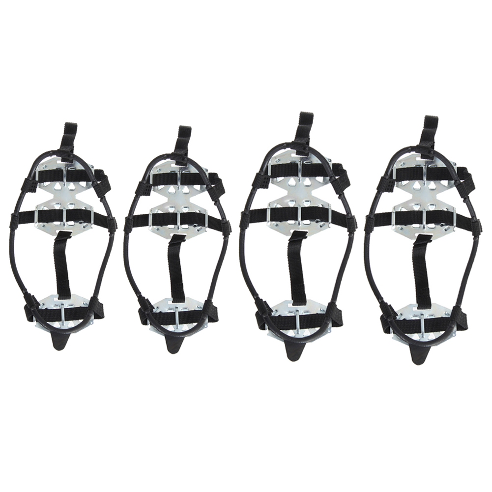 1 Pair Winter Anti-Slip Ice Gripper Snow Skiing Cleats Stainless Steel Shoes Boot Grips Sharp Snow Climbing Ice Crampons
