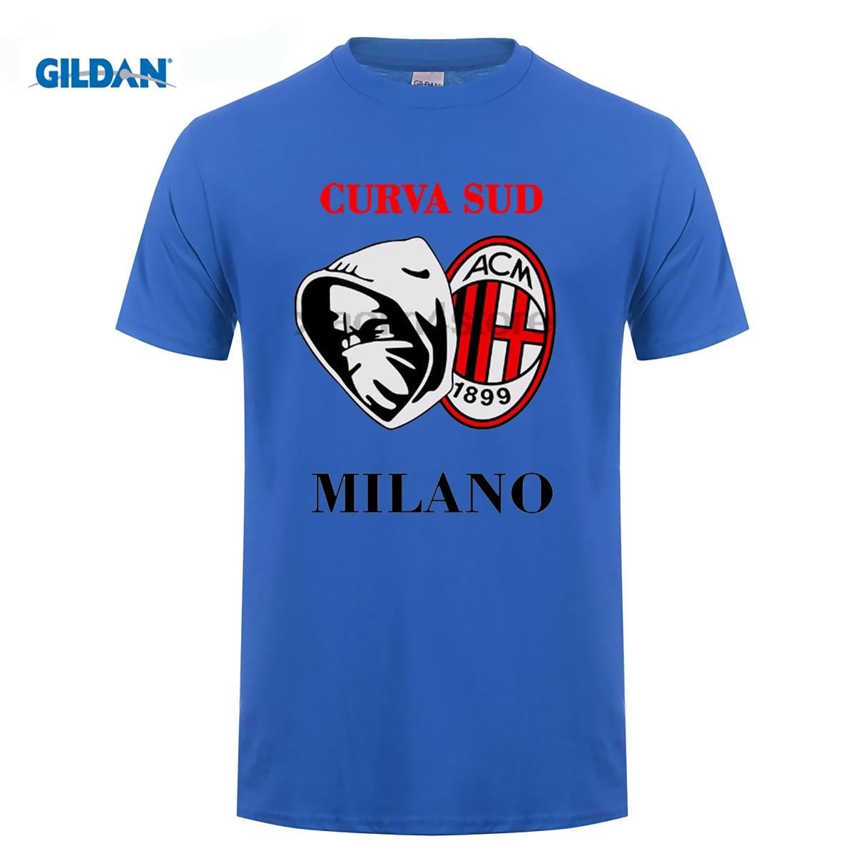 GILDAN DIY style mens t shirts Streetwear Clothing HAPPINESS REGALO SPORTER ULTRAS MILAN CURVA SUD Tees