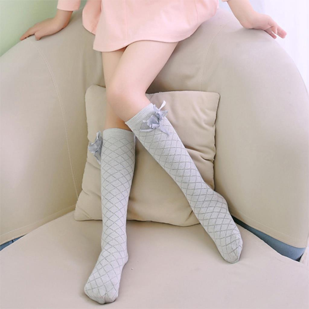 Baby-Kid-Socks-Girl-Children-Cute-Princess-Solid-Color-Bow-Pattern-Knee-High-Long-Socks-2