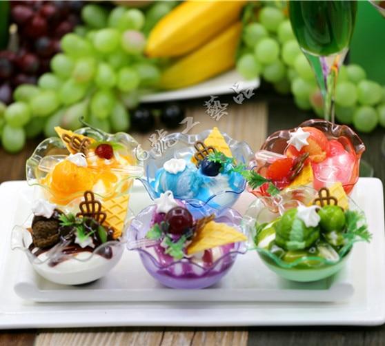 6pcs/lot Home Gift Artificial Simulation Popsicle fake food PU Decor ice cream cold lifelike dessert plastic natural teach