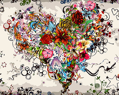 DRAWJOY Pictures Flower DIY Painting By Numbers Canvas Oil Painting Painting And Calligraphy Home Decor For Living Room Wall Art