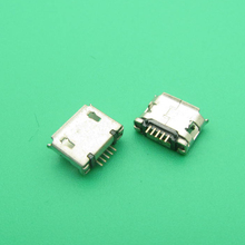 100pcs MICRO USB charging ports for mobile phone and tablet Android system short pin warped port center distance 5.9mm