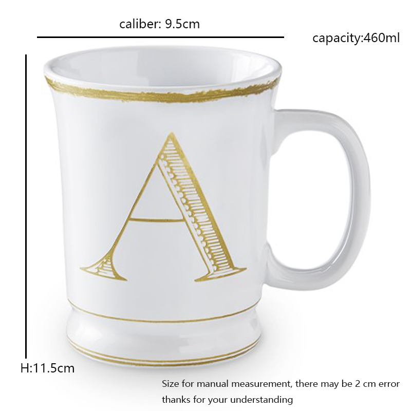 the office coffee mugs. Aliexpress.com : Buy Creative Brief Gold Plated Letter Pattern White Ceramic Porcelain Office Coffee Mug With Handle Breakfast Milk Cup Friend Gifts From The Mugs