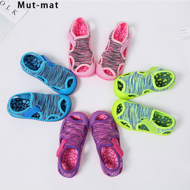 Children's Sandals Boys Beach Shoes Solid Bottom Soft Wear Non-slip Girls Baby Toddler Shoes Kids Barefoot  Shoes