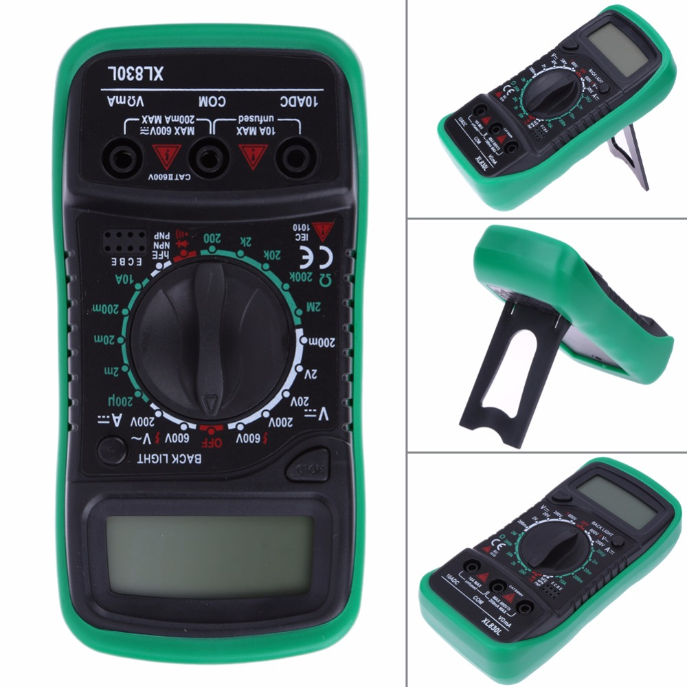 Xl830l Multimetro Digitale Voltmetro Amperometro AC DC OHM Volt Tester Corrente di Prova LCD Multimetro Protezione Da Sovraccarico di alta qualità