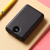 Mini banco de potência 10000mah carregador portátil bateria externa fina poverbank para iphone x 8 7 6 xs samsung s8 s9 xiaomi power bank