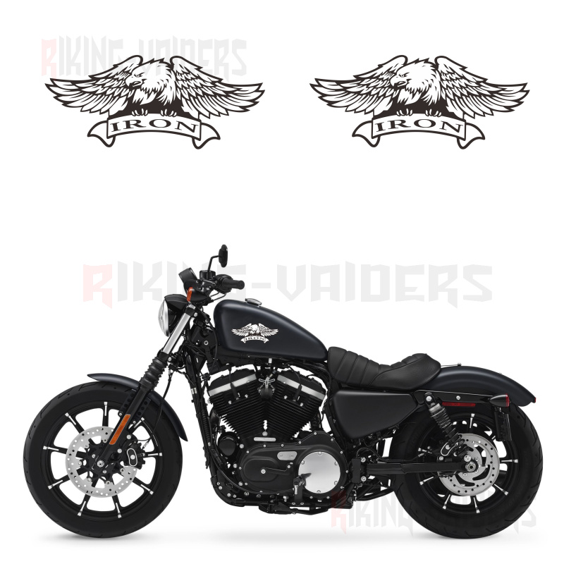 Custom Eagle Logo Stickers Fuel Tank Decals Vinyl Sticker For Harley Sportster XL883N Iron