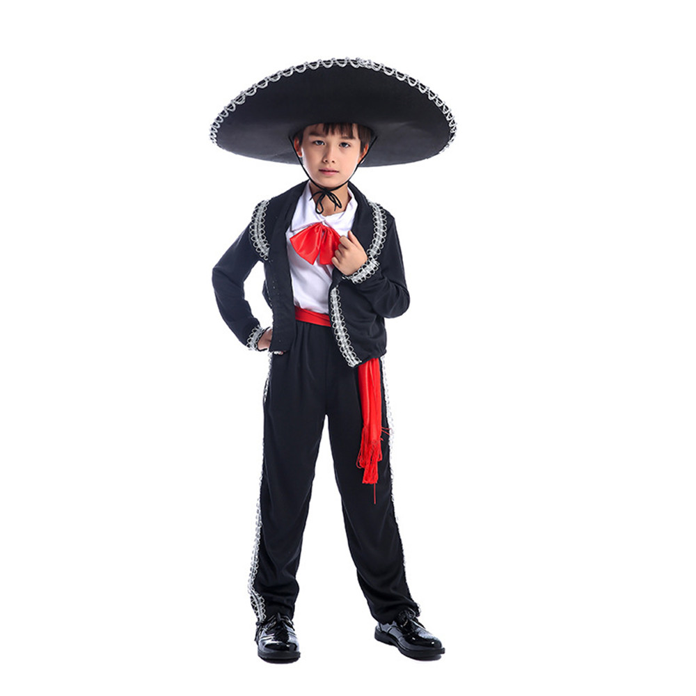 Boy costume Halloween costume for kids Mexican Costume Mariachi Party Set Matador boy`s Cosplay Carnival Cosplay