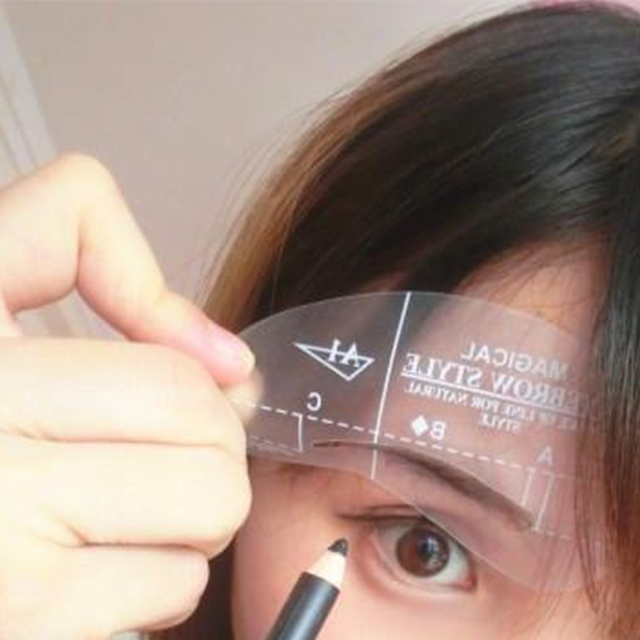 4pcs Kit Grooming Style Makeup Template Tools Eyebrow Stencil DIY Beauty Cosmetic Model Drawing Card Shaping A1-A4 1