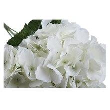 """Искусственный цветок гортензии 5 больших головок букет(диаметр """" Каждая голова"""