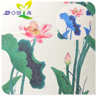 0.5 M/elegant blauw groen lotus stretch Chiffon robe doek positionering lange rok kledingstuk stof Han