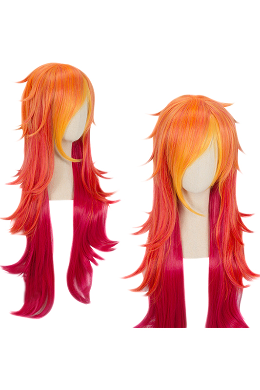 Synthetic None-lacewigs Miss U Hair Girl Synthetic 85cm Long Straight Dark Purple Colorhalloween Hair Cosplay Costume Full Wig Punctual Timing