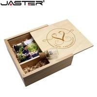 JASTER 180*180*60mm Photo Album Wooden USB+Box usb flash drive Memory stick Pendrive 8GB 16GB customer LOGO Photography Wedding