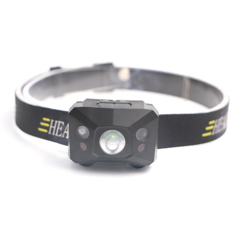 Hands-free LED Headlamp USB Rechargeable Headlight Waterproof Head Torch Hard Light Body Motion Sensor Flashlight For Camping