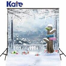Kate Photo Background Cloth Christmas Backdrops Photography Xmas Winter Snow Backgrounds For Photo Studio Fotografia