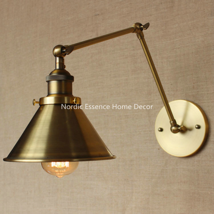 Nordic Designers LOFT American country rural pastoral retro bronze wall sconce warehouse restaurant cafe hotel aisle wall lamp