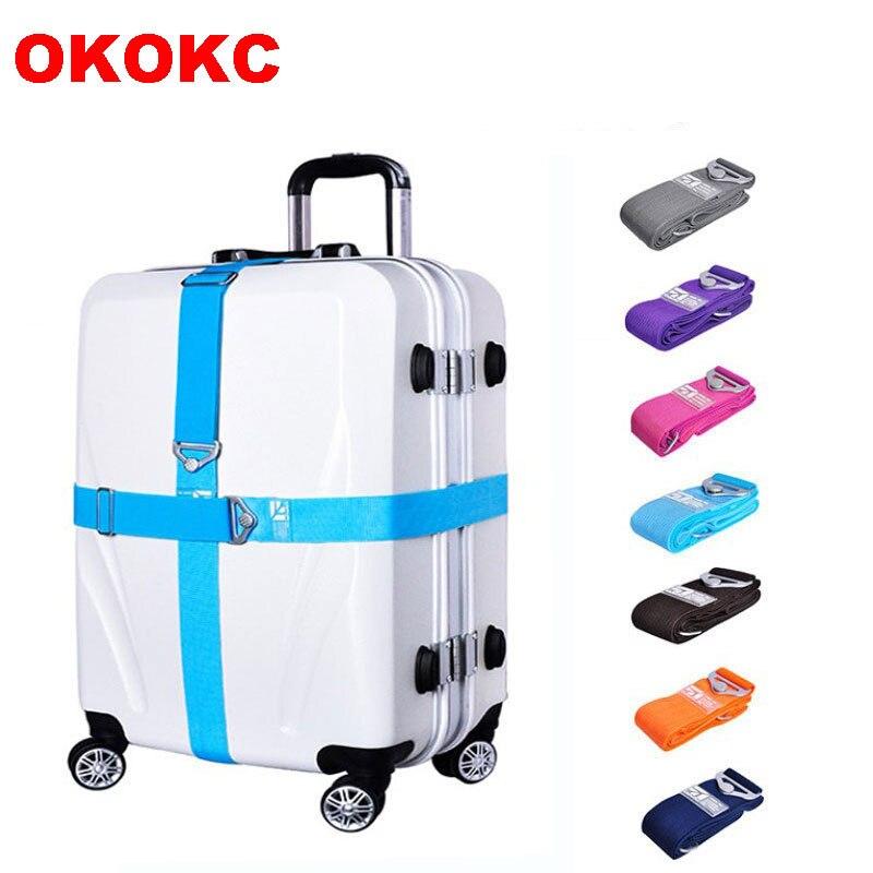 Okokc Чемодан ремень Туристические товары чемодан пояса регулируемая тележка отделение Чемодан Бретели для нижнего белья 168 см