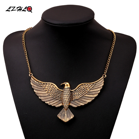 Lzhlq 2019 горячая Распродажа металлический Орел Макси ожерелье