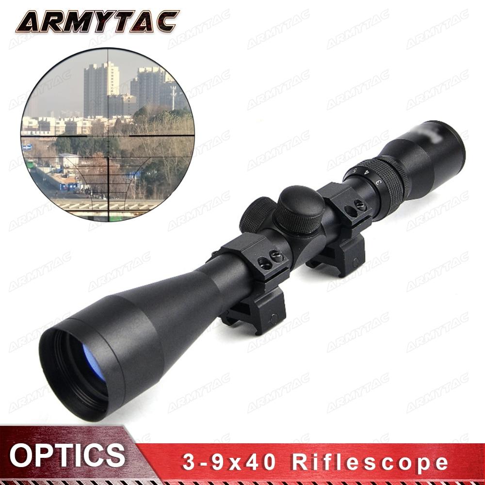 OPTICS 3-9X40 Tactical Riflescope Optic Sniper Deer Rifle Scope Hunting Scopes Airgun Rifle Outdoor Reticle Sight Scope