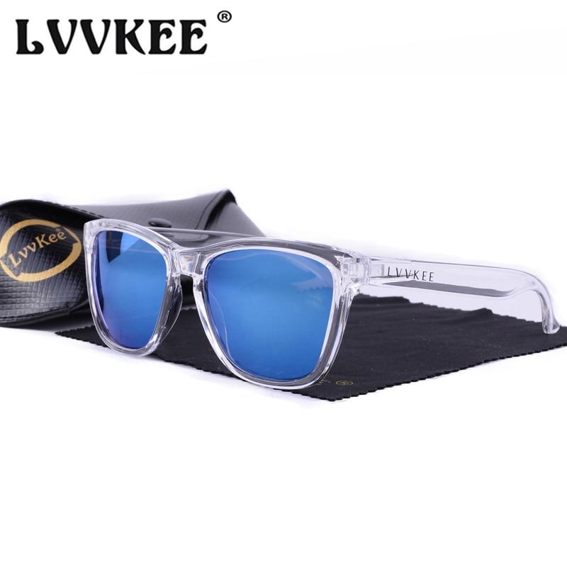 Karstā LVVKEE 2018 Oriģinālā logotipa saulesbrilles Vīrieši Zīmola dizains Āra sporta saulesbrilles Wome UV400 Oculos De Sol ar iepakojumu
