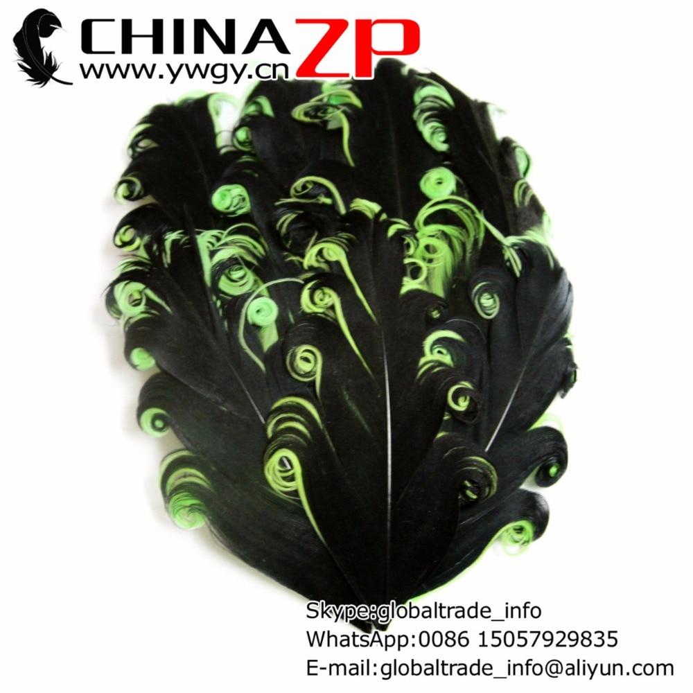 Chinazp фабрики www.ywgy.cn 50 шт./лот окрашенная черные с салатовой Nagorie Перо площадку для Женские аксессуары для волос