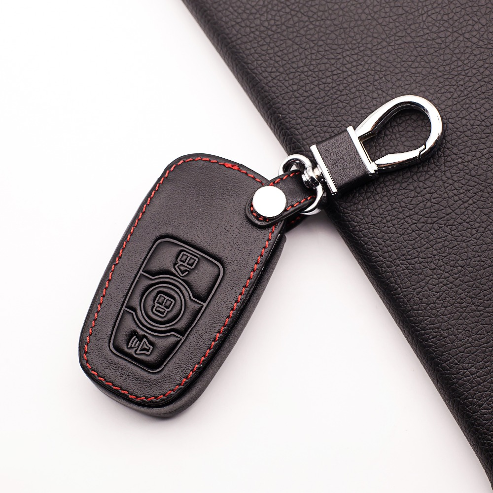 Hot Sale Genuine Leather Car Key Fob Cover For Great Wall Haval H6 2015 C50 Hoist Case Key Wallet  Key Chain Auto Accessorie