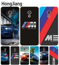 HongJiang luxury bmw M3 photo print Cover phone Case for Meizu M5 M5S M2 M3 M3S MX4 MX5 MX6 PRO 6 5 U10 U20 note plus