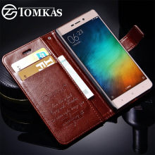 Case For Xiaomi Redmi 3S Cover Case Redmi 3 Pro 3 S TOMKAS Wallet Flip Leather Phone Bag Cases For Xiaomi Redmi 3S Pro Prime 3 S(China)
