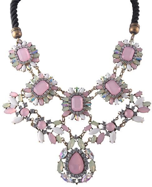 New 2016 Bib shourouk fashion Unique Europe Party choker Necklace big flower pendant necklace statement jewelry women