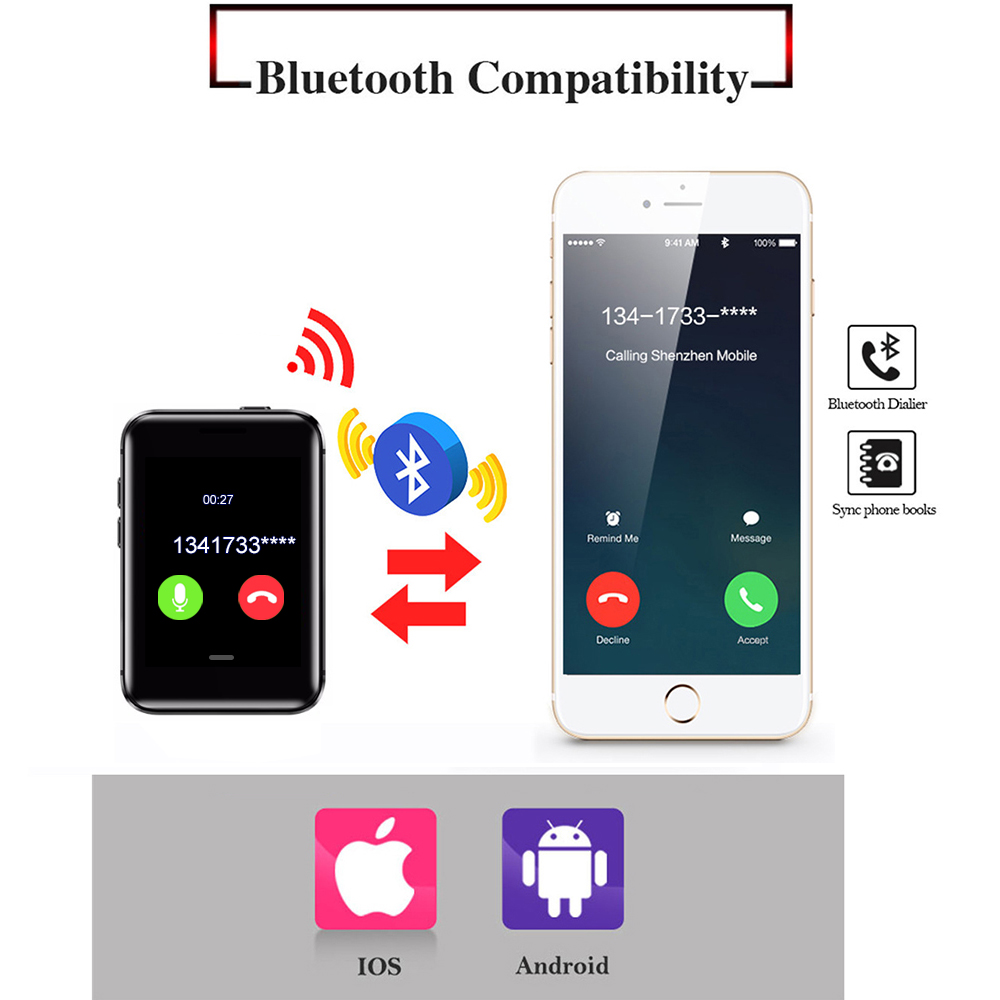 Image 3 - Sleep Monitor Pedometer Bluetooth dialer Smartband small Mini mobile phone Bluetooth Smart Watch AEKU i5S Smart Bracele-in Cellphones from Cellphones & Telecommunications