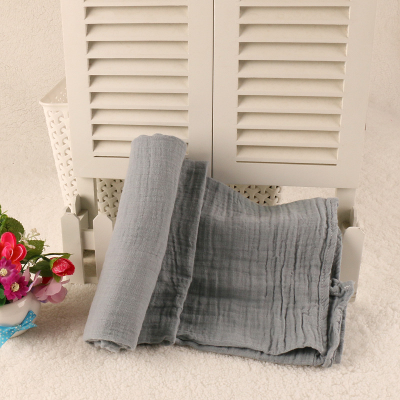Wholesale Oganic cotton Muslin Baby Blanket Swaddle wrap Spring Newborn Swaddleme  blanket For Babies Black White Bath Towel
