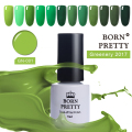 1 Bottle BORN PRETTY Soak Off UV Gel Green Series Long-lasting 5ml Manicure Nail Art Gel Polish Varnish