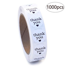 1000pcs round thank you stickers seal labels for wedding party decorations baby shower decoration sticker kitchen