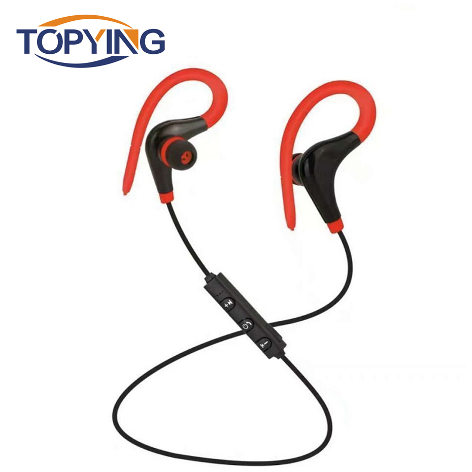 Ear hook Earphone with microphone 3 5 mm Headphone Running Sweatproof Stereo Headset Sport for Headphone in Bluetooth Earphones Headphones from Consumer Electronics