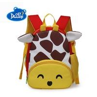 Delune 1 3 Toddler Backpacks Anti lost Kids Baby Bag Cute 3D Animal Children Backpack Kindergarten School Bag Mochila Escolar