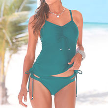 Summer Womens One-Piece Suits Swimming Cloth Tankini Padded Swimsuits Monokini Push Up Sexy Ladies Bikini Sets Swimwear Jun03(China)