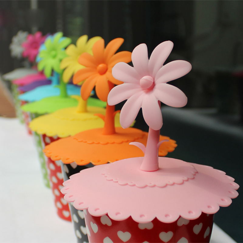 Sunflower Silicone Cup Cover