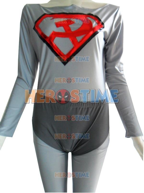 Klassikaline punane poeg superman kostüüm halloween Cosplay partei - Kostüümid - Foto 4