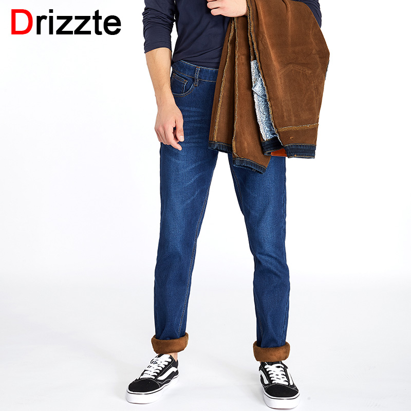 2019 New Men Activities More Thicken Warm Jeans Autumn Winter Jeans Warm Flocking Warm Soft Men Jeans Fit For 15 Men's Clothing