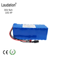 36V Battery 8ah 8000mAh 500W High Power and Capacity 42V 18650 Li Ion Battery Motorcycle Electric Car Bicycle Scooter with BMS