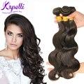 7A Unprocessed Brazilian Virgin Hair Body Wave 3Pcs/lot Human Hair Extensions Dark Brown Color #2 Brazilian Hair Weave Bundles