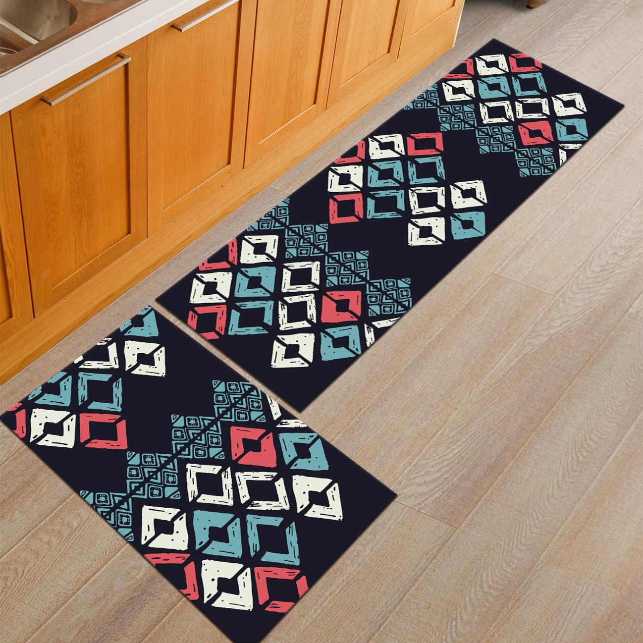 Zeegle Absorbent Doormats Outdoor Anti Slip Bathroom Bath Mats Bedroom Carpet Bedside Mats Sofa Table Floor Mat Kitchen Area Rug