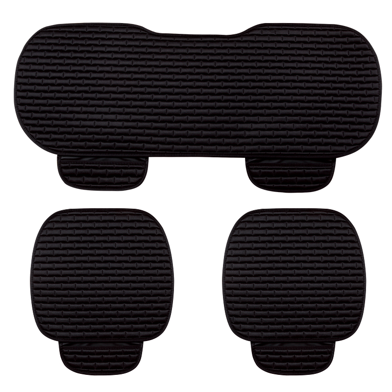 3Pcs/Set Universal Soft Warm Car Seat Covers Seats Cushion For Front Back Seat Chair Black Brown Car Pad Seat Protector hot sale car seat back covers protectors for children protect back of the auto seats covers for baby dogs drop shipping