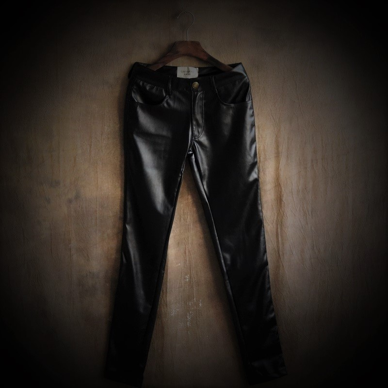 Autumn New Leather Pants Men Tight The Fashion Leisure Trousers Little Feet Big Yards of Pants